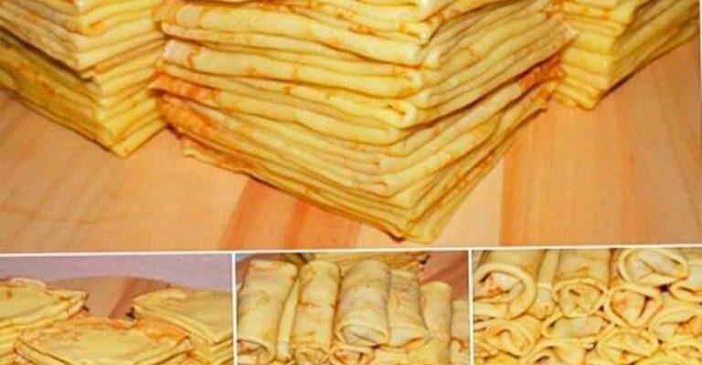 Тонкі млинці - рецепт приготування