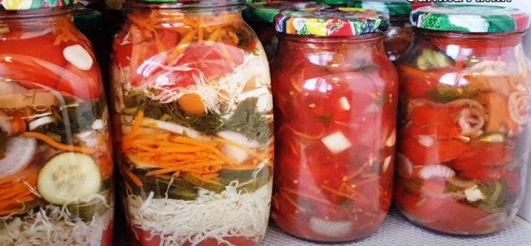 Неймовірно смачний маринований салат на зиму
