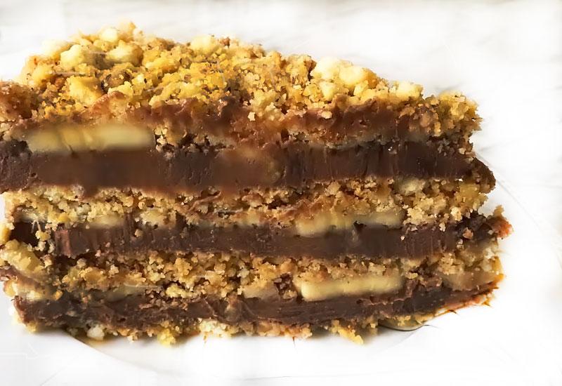 Ніжний і смачний горіховий торт без випічки