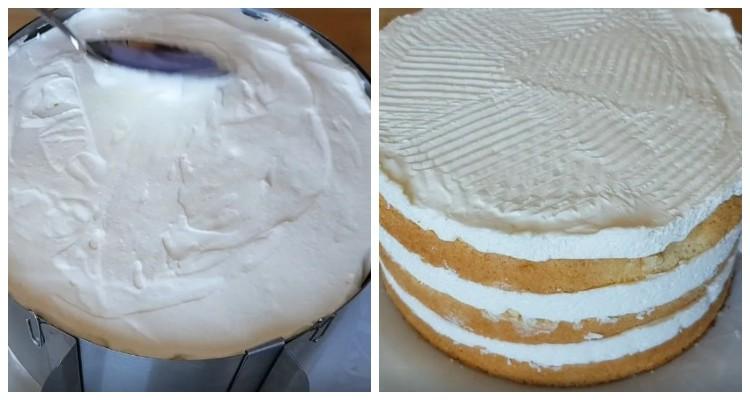 Торт Ніжність. Дуже ніжний і повітряний бісквітний торт