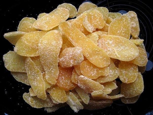 Цукати з гарбуза, полуниці, імбиру і апельсина