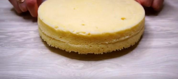 Торт бісквітний: без духовки, без печива і желатину