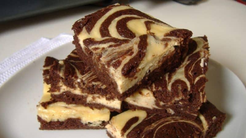 Шоколадно-сирний пиріг Мармуровий. Ніжна і розсипчаста випічка