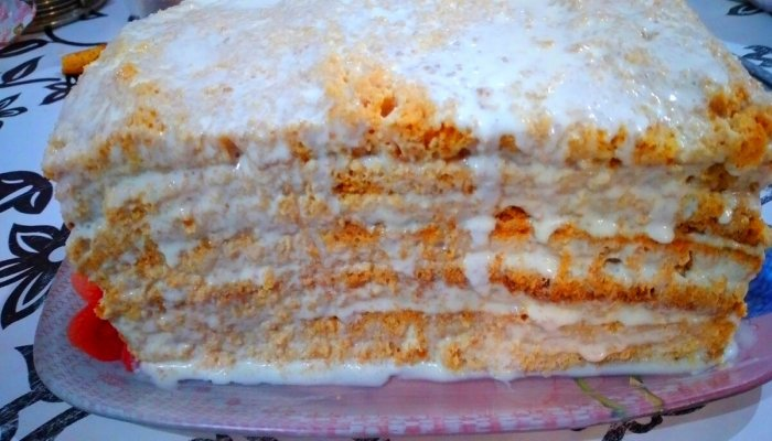 Медовик за 30 хвилин без розкачування коржів. Шалено смачний і ніжний торт