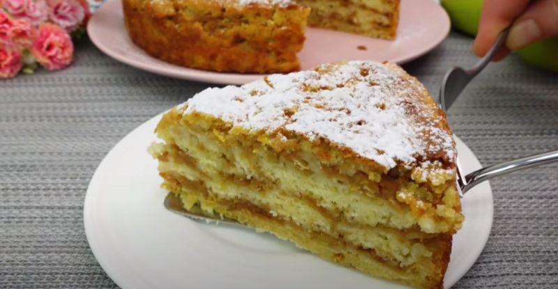 Найпростіший яблучний пиріг «3 склянки»! Смачно і швидко