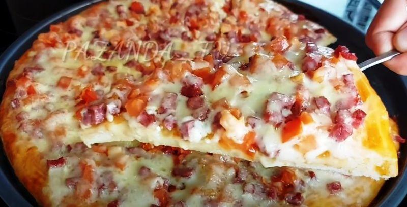 Готую щодня і просять ще! Величезна домашня піца